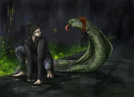 A Boy and his Basilisk by Thilil