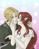 Link and Malon :contest entry by Reenigrl