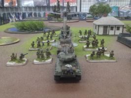 Sherman E8 With Supports by srsim2