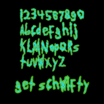Get Schwifty: A Rick and Morty font by jonizaak