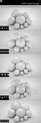 5 realistic Studio HDRI Budle 1 by HollowIchigoBanki