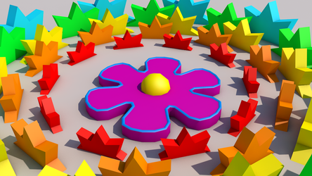 3D Flower Circle by Galato901