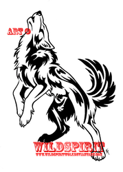 Howling Wolf w. Phoenix Tattoo by WildSpiritWolf