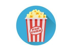 Popcorn Flat Vector Icon by superawesomevectors