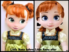 repainted ooak animators anna doll. by verirrtesIrrlicht