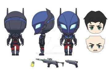 Nendoroid Arkham Knight Design by KururuLabo