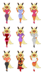 Sara Flareon's Outfits by redryan2009