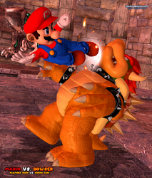 Mario Vs. Bowser: Kickin' It To The Koopa King by ShadowNinjaMaster