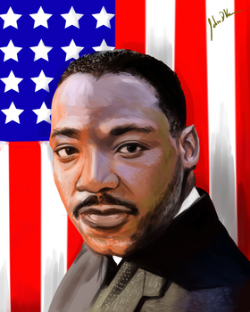 Martin Luther King Jr by FlareKage