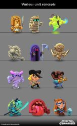 Monster And Commander concepts : Dungeon Units by Ambroise-H
