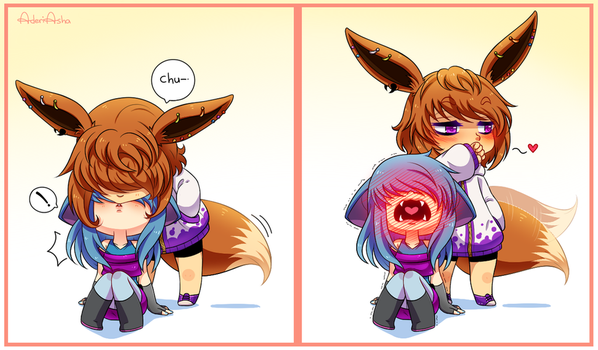 surprise attack!CHU! by AderiAsha
