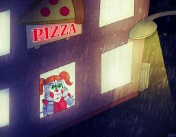 A Little Girl Watching The Rain... by FNaF2FAN