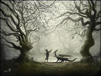 The Boy And His Dragon by AndyFairhurst
