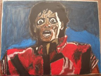 Michael Jackson as a Zombie by ChevysArt