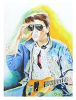 Marty McFly (painting) by kfairbanks