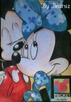 Mickey and Minnie Mouse Drawing by BeatrizLoveMyJesus