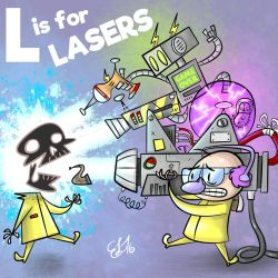 ALPHAMABET OF DANGEROUS - L is for LASERS by FLUMPCOMIX