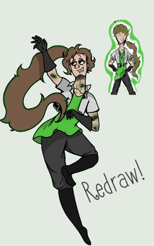 Fusion of 2 Characters- Personal Redraw by SlimeTime6