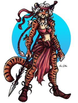 Maya the Tigress by TheLivingShadow