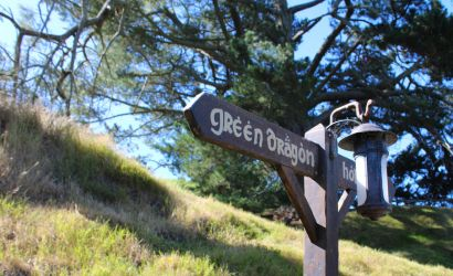 Green Dragon This Way by Pickley
