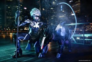 MGR - Raiden and Bladewolf by vaxzone