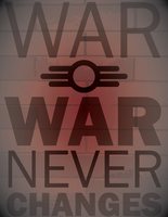 War Never Changes (on brick) by WolfTron
