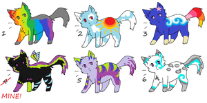 Cat Adoptables 4 *Open* by LuxaAdoptables