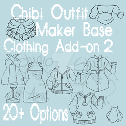 Waitress Chibi Outfit Maker Add-on 2! $4/400 pts by Aelliana