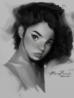 Grey Scale Painting by M00NBRUSH