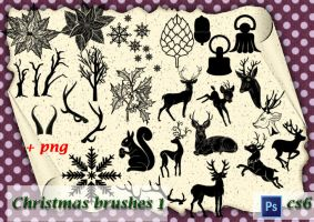Christmas brushes 1 by roula33