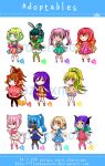 Chibi Adoptables #2 [Paypal/Points] by frozenxnova