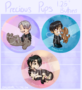 Precious Pups Buttons [Preorders Open] by MelchiorFlyer