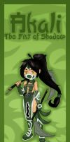 Akali bookmark design by Hotaru-oz