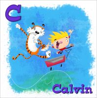 Calvin and Hobbes by xanderthurteen
