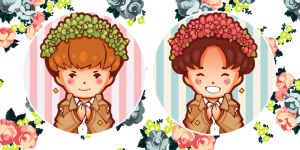 Jean + Marco Flower Crowns by Popo-Licious