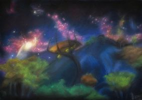 Shivering Isles: Night in Mania. by MadEvilLydia