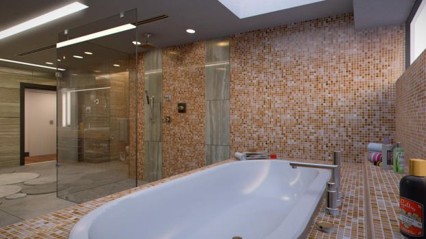 Modern Bathroom - 3 by FibixStudio