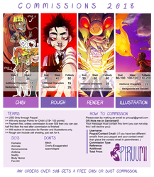 Commission Info 2018 [OPEN] by PiruuMi