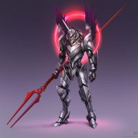 Eva 01 Knight armor ver by funzee