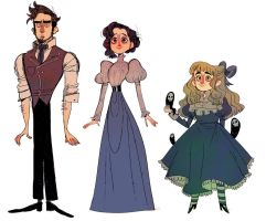 Character doodles by 9emiliecharlie9
