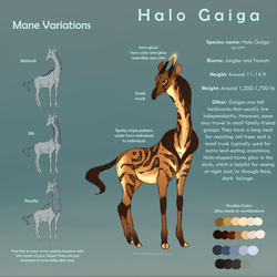 [Open Species] Halo Gaiga by Flora-Tea