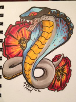 Snake and flower by Grymjack
