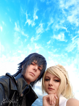 Noctis and Luna by MischievousBoyAilime