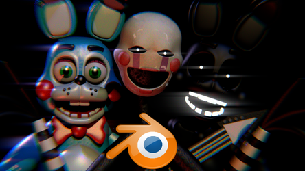 Toy Bonnie v7.5 and Puppet Blender Release! by Spinofan10