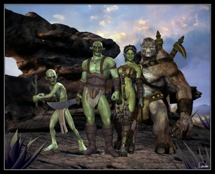 Orc Warband by celticarchie