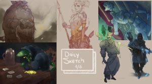 Daily sketch 1-6 by sarty96