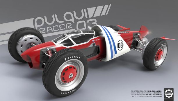 Pulqui Racer - F1 Retro Fighter - Front by Secap