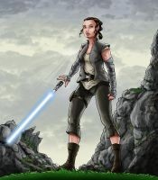 Training time Rey.. by sonicboom35