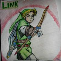 Link Drawing - TLoZ: Ocarina of Time by TheCoolCosplayer22