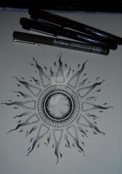 Mandala tattoo design #6 by MadPorcupine
